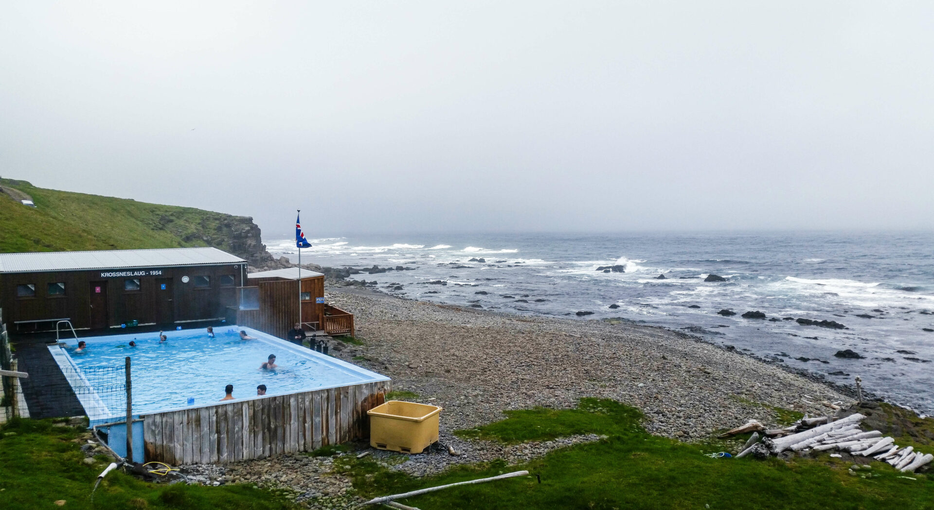 018 varme kilder, Krossnes laug, Island