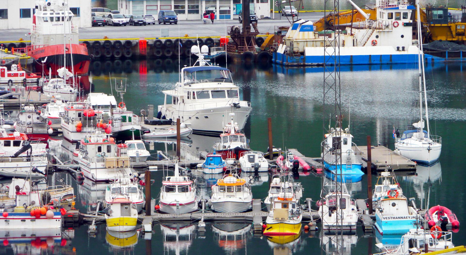 3. P1040580 Venture dominates Heimaey harbour