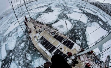 Fanget i isödet. Foto; Ben Cooke