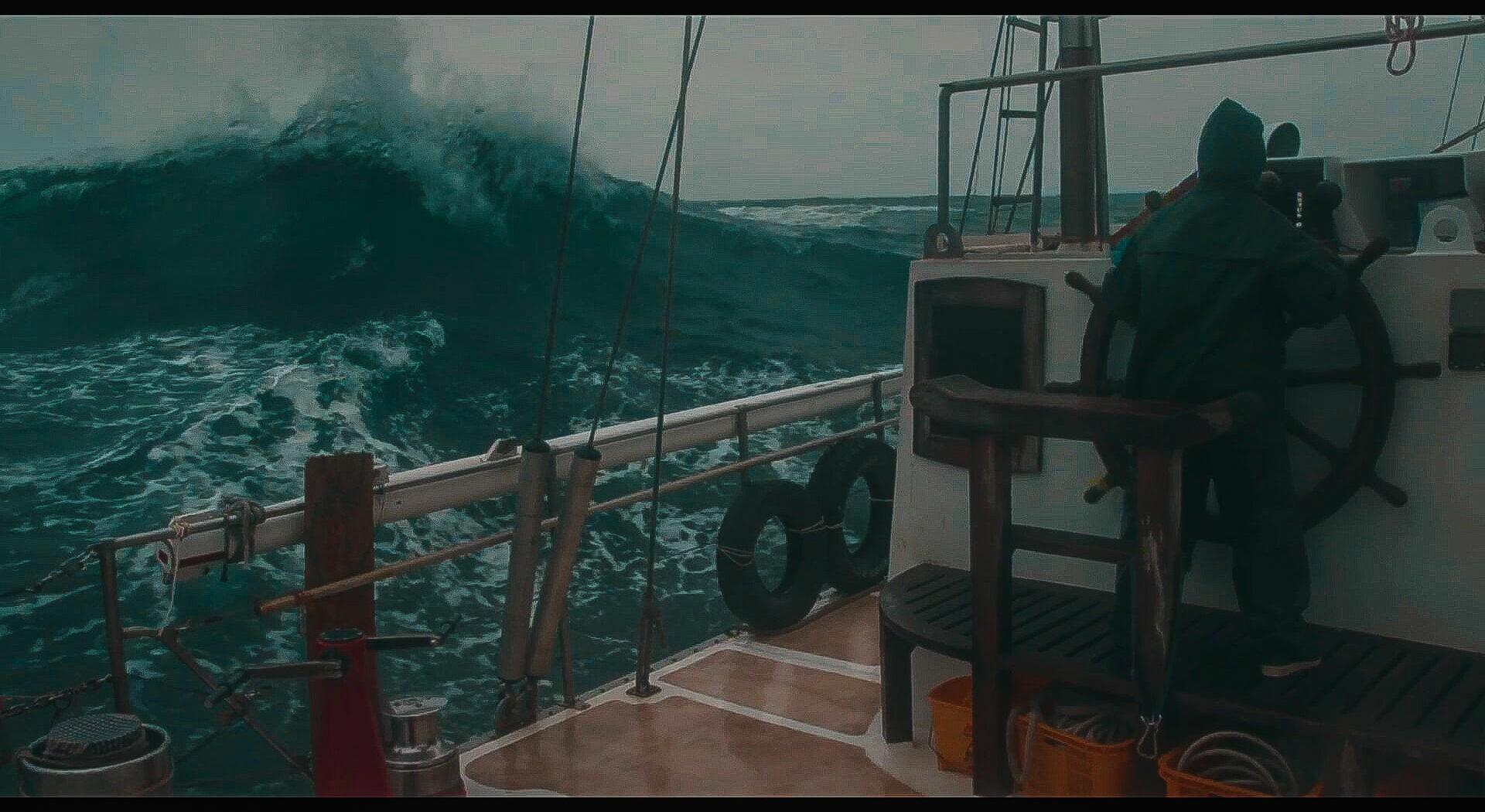 Nord-Atlanteren i oktober, trenger vi si mer… Fotoꓽ Tim Charody