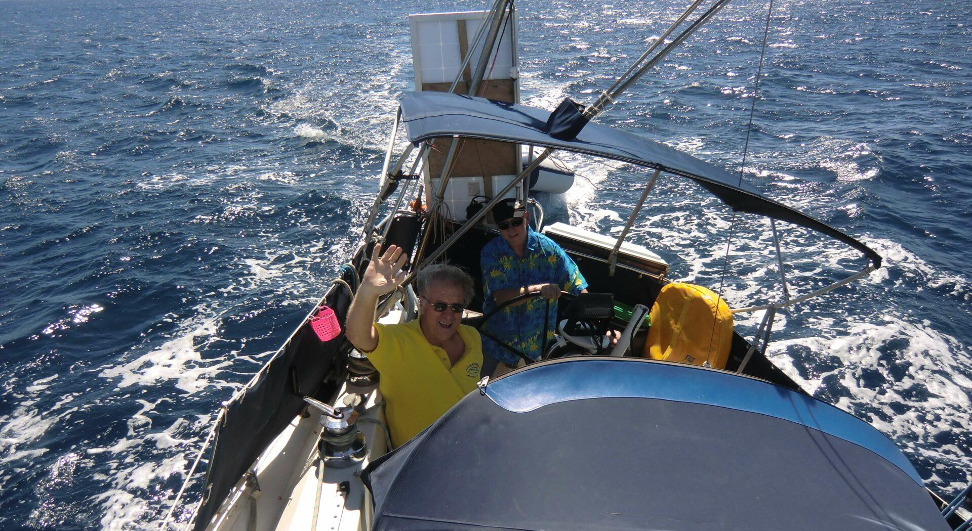 På seilas med Fred Weel til Barbados´ sørkyst