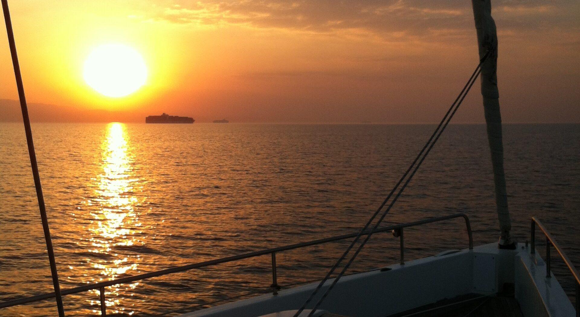 Rett før byen Suez