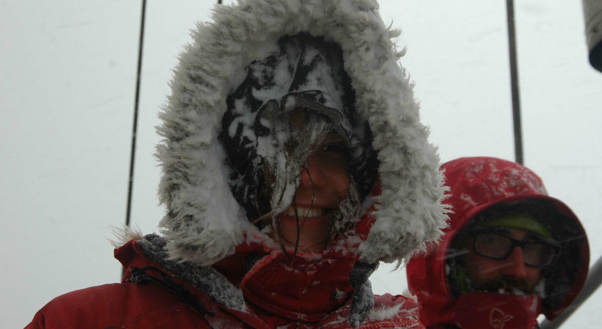 Vi går stadig kaldere rorvakter i möte. Foto; Amanda Sailing