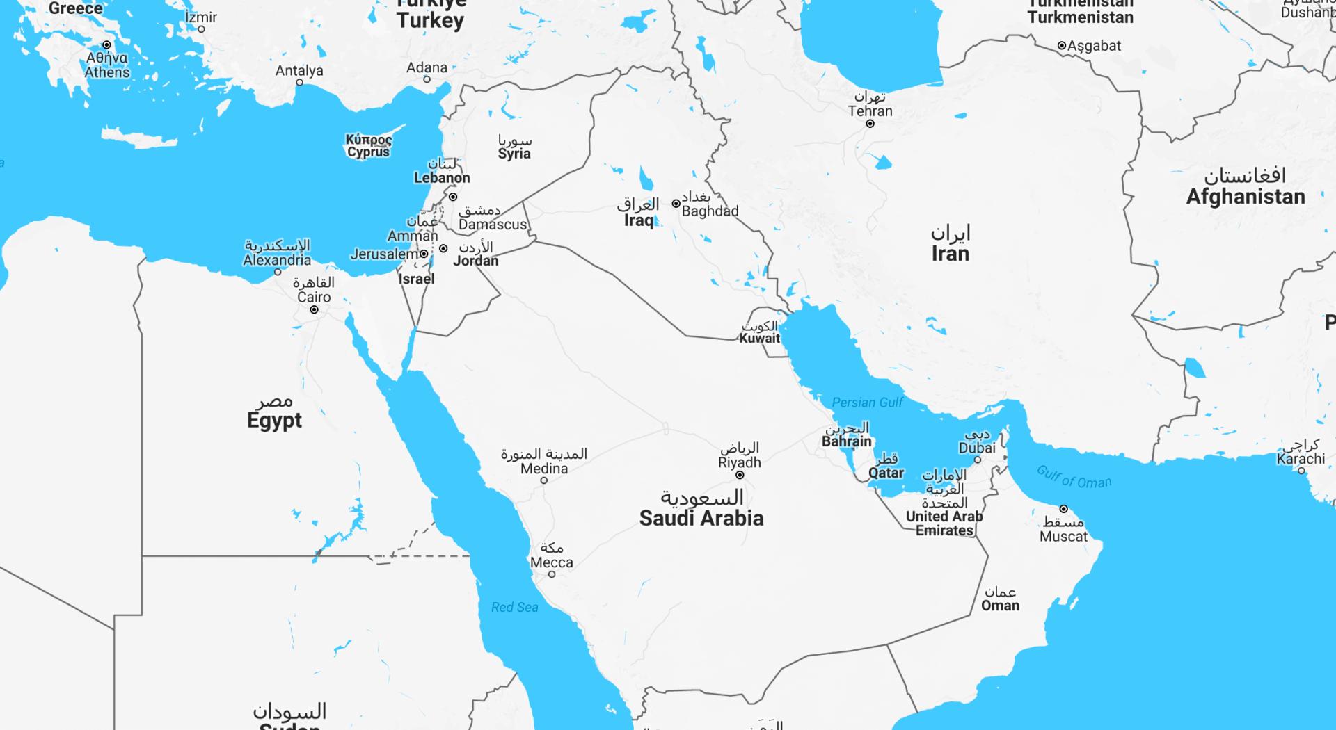 midtOsten_kart_GoogleMaps