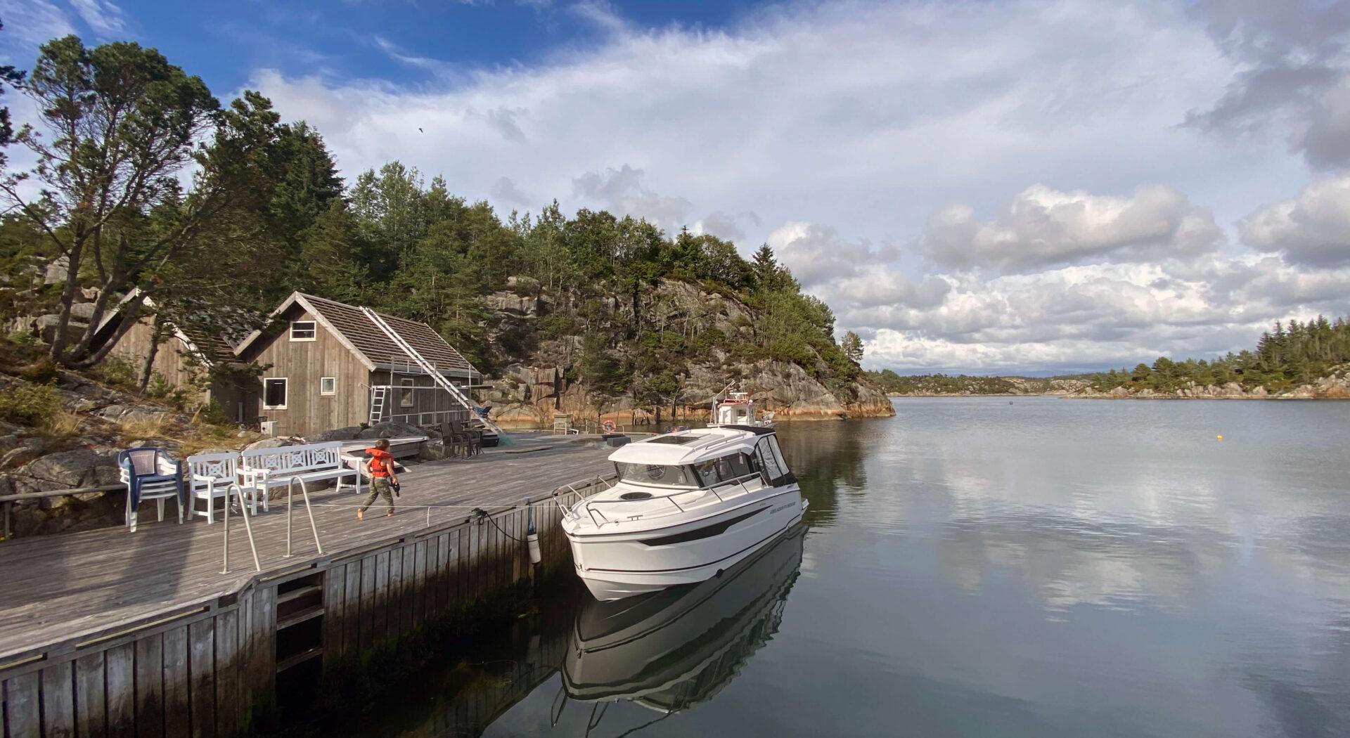 Båten ved Sæverudsøy