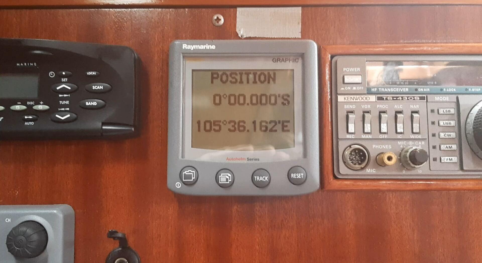 3, 2, 1 – 0! Tre år etter vi krysset Ekvator ved Galapagos, er vi tilbake på nordlhalvkula igjen.