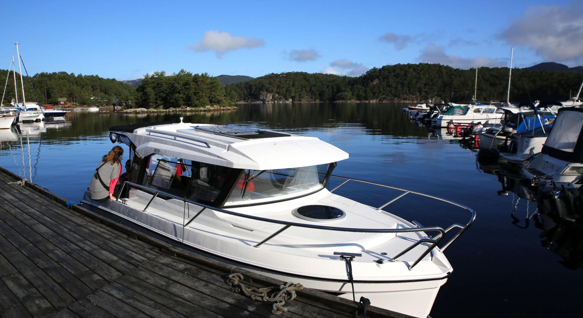 Båten klar for avreise