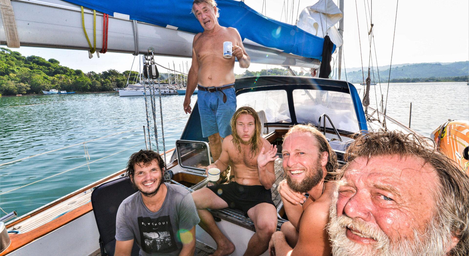 Mens verden ble satt på pause dukket et friskt pust fra Norge opp. F.v. Dag Juell, Adam Solheim, Kenneth Thomassen og Adam Solheim.