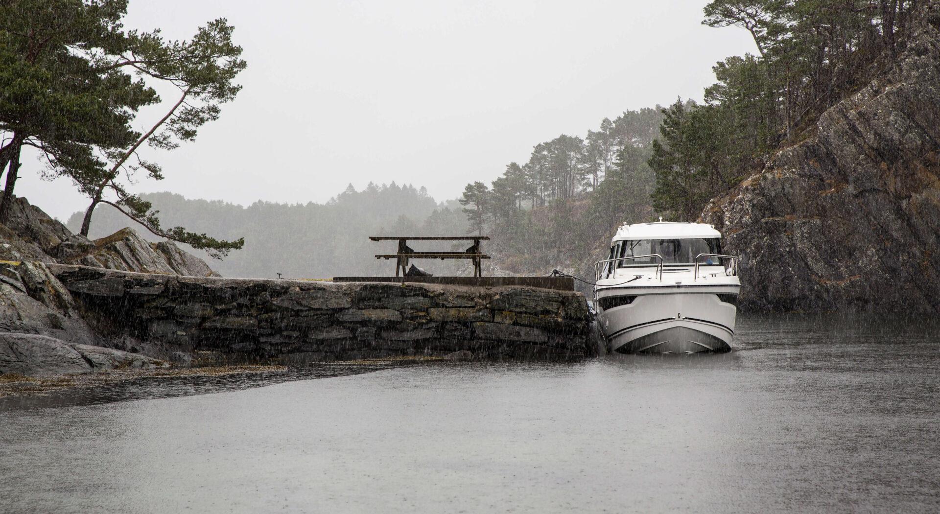Båten til kai ved Oksebåsen